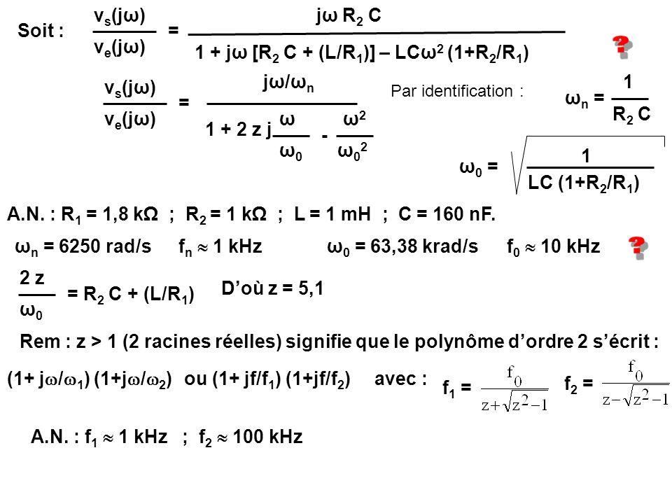 1 + jω [R2 C + (L/R1)] – LCω2 (1+R2/R1)